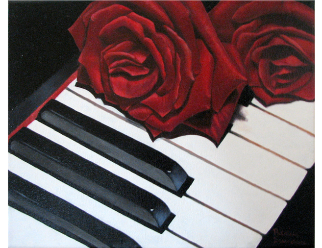 Roses on Keyboard