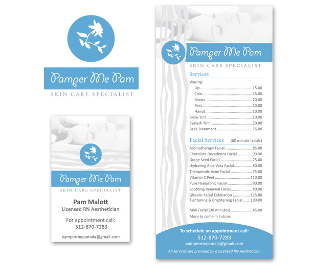 Logo, Price sheet, Business Card