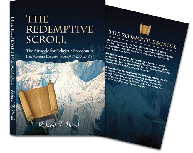 The Redemptive Scroll designed book cover art