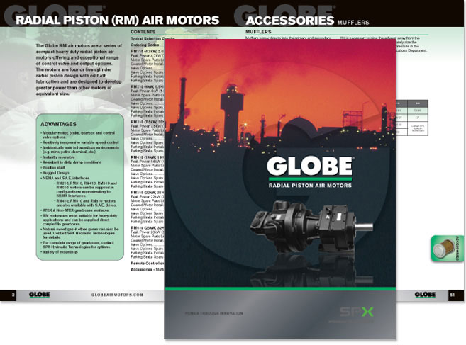 SPX Globe Catalog cover design