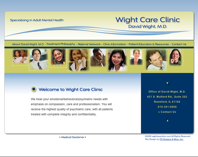 Wight Care Clinic Website